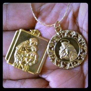 Vintage Jewelry - Vintage Necklace Set of St. Anthony Medals